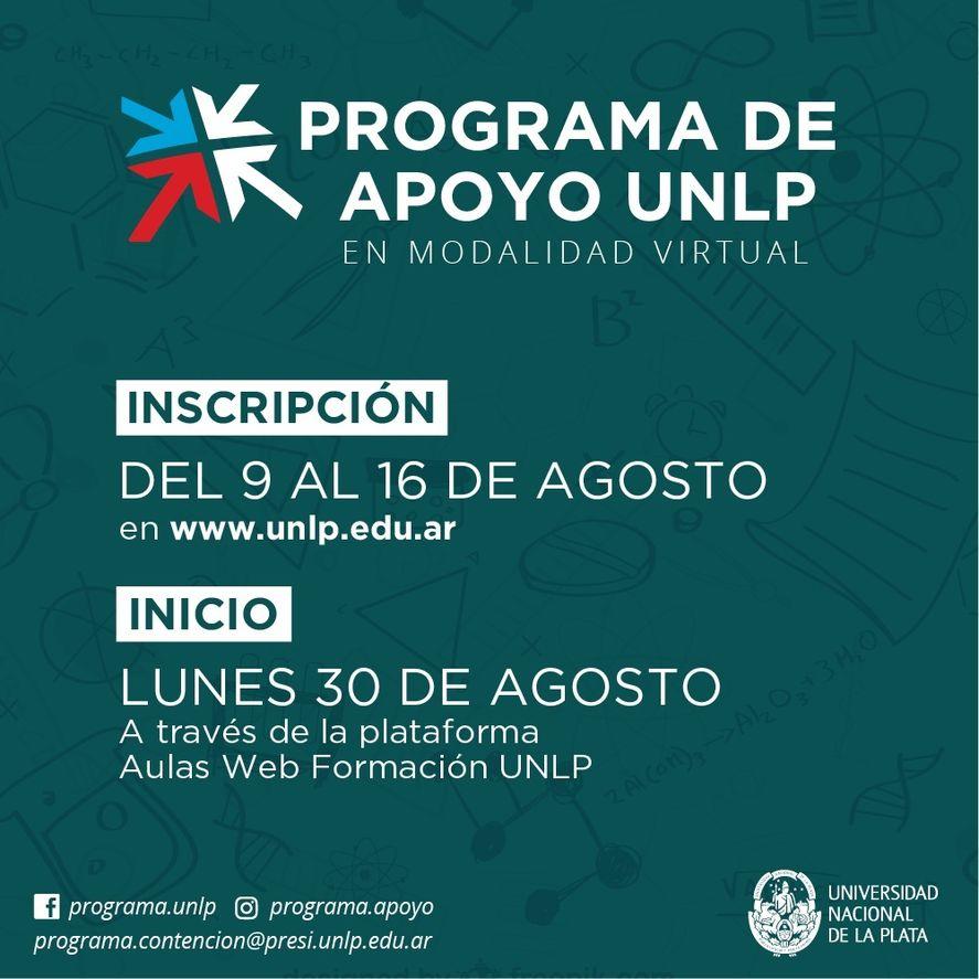 La inscripción al programa de la UNLP abre el 9 de agosto