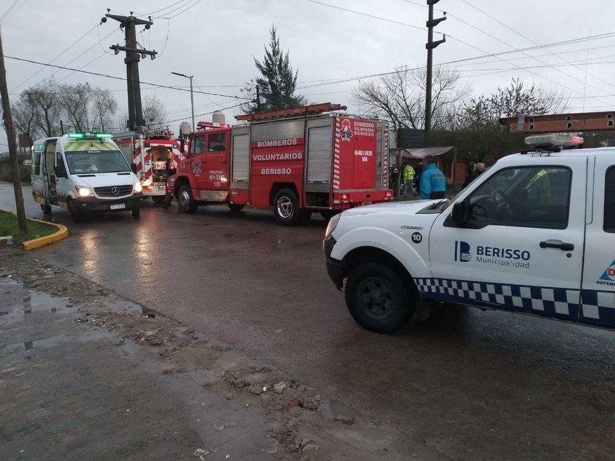 Espanto en Berisso: una nena de un año murió calcinada en un incendio