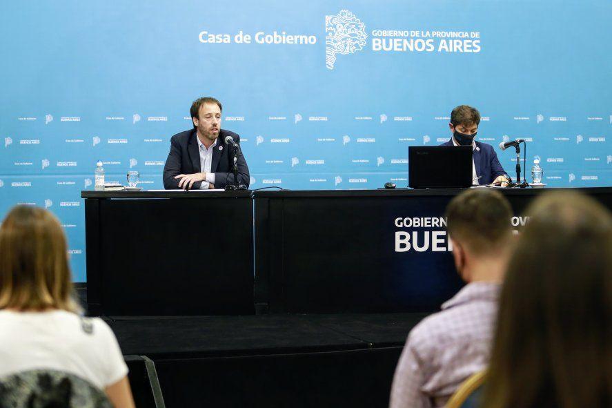 """El gobernador Kicillof y el ministro López llevan adelante la reestructuración de la deuda. """"Necesitamos aire"""", reconoció López a INFOCIELO."""