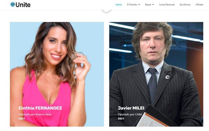 Cinthia Fernández será candidata en las elecciones de la provincia de Buenos Aires por el partido Unite