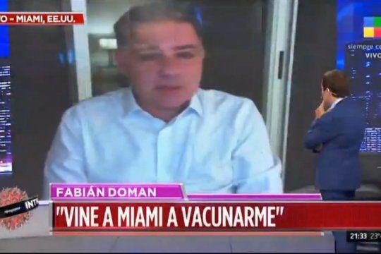 El periodista Fabián Doman explica su viaje y como hizo para recibir la vacuna de Johnson & Johnson en Estados Unidos