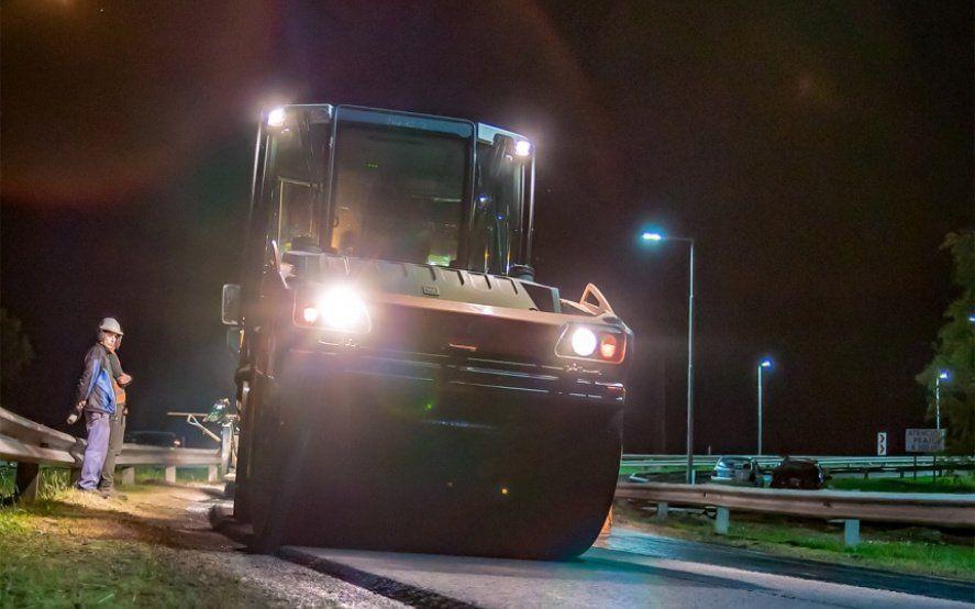 Sigue la repavimentación en el tramo Hudson–La Plata de la Autopista: un carril reducido
