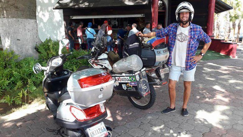 De Villarino a Alaska: la travesía de un bonaerense que recorre América en moto