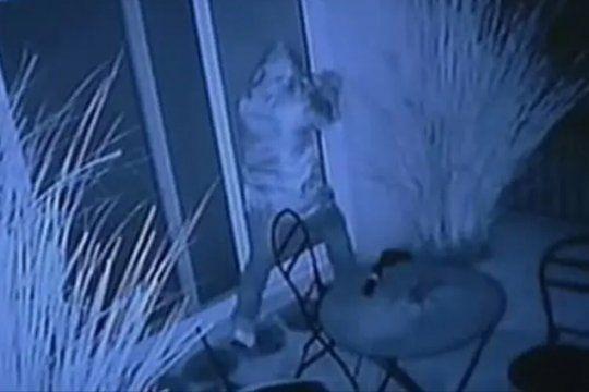 Imágenes del robo en la casa de Sergio Massa