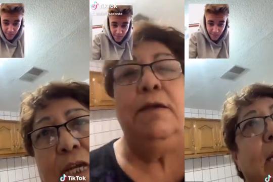 ?abuela, dale tu receta a mi amigo?: la hizo hablar con una foto de justin bieber
