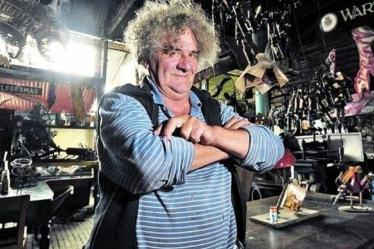 fallecio carlos regazzoni, el gran artista plastico que utilizaba desechos ferroviarios