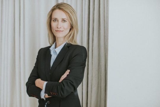 Kaja Kallas la primera ministra de Estonia será la primera mujer en asumir ese cargo en el país báltico