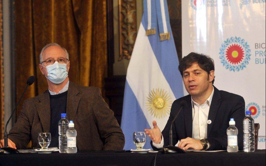 Kicillof y su ministro de Salud