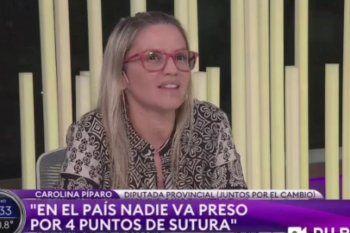 La Diputada Provincial Carolina Píparo resaltó que una de las víctimas solo tuvo 4 puntos de sutura y eso no debería ameritar la prisión de su marido