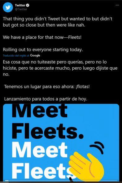 Twitter lanzó Fleets en el 2020