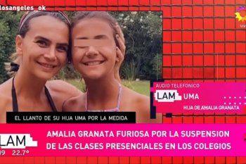 Amalia Granata expuso un audio de su hija sollozando por no tener clases presenciales y no poder festejar su cumpleaños