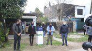 galmarini, katopodis y gray inauguraron una red de agua para 2.000 vecinos de esteban echeverria