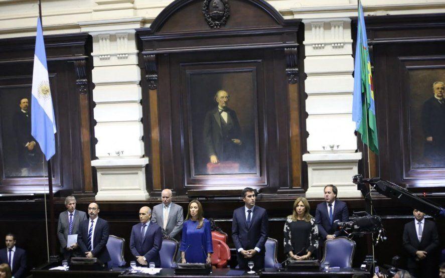 Todo listo para entonar el himno nacional argentino.