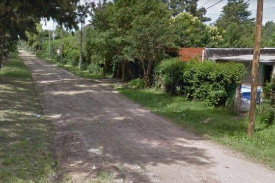 En esta calle sucedió el violento hecho que terminó con un adolescente muerto