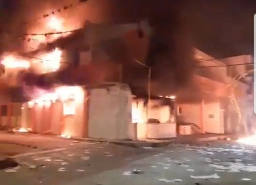 El incendio intencional de la Alcaldía municipal en La Plata
