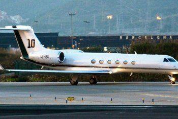 Alberto Fernández viajó a México en el avión que el Gobierno le alquiló a Lionel Messi