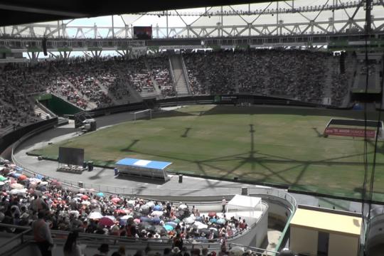 unos 35 mil testigos de jehova colmaron el estadio unico