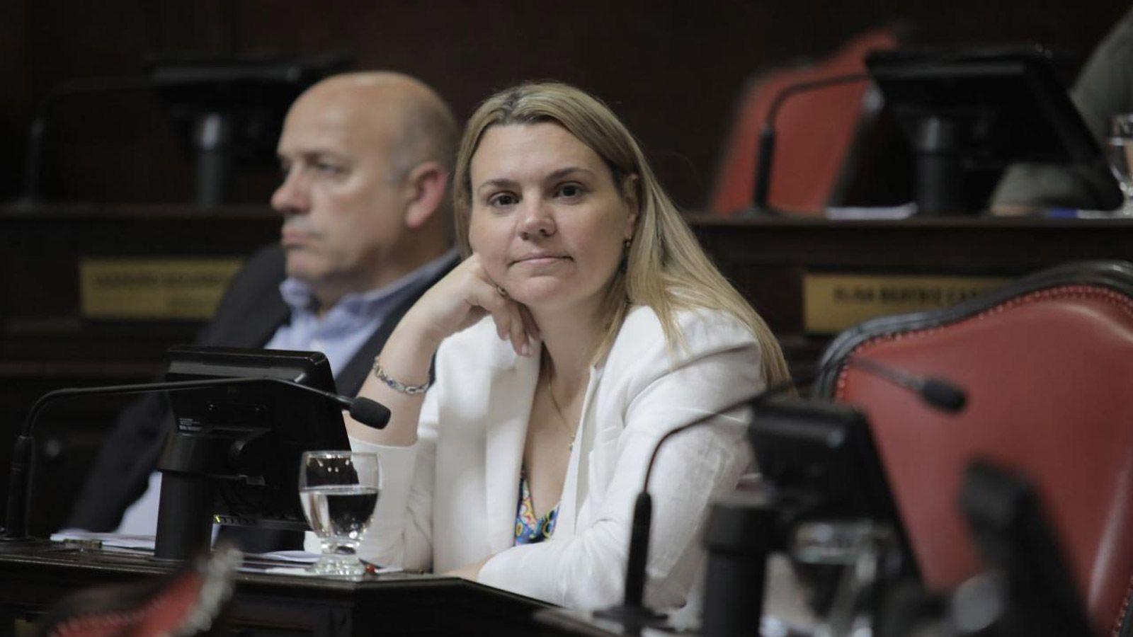 La senadora del PRO, Lorena Petrovich