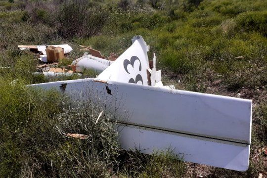 Así quedó la avioneta en el aeroclub de General Rodríguez