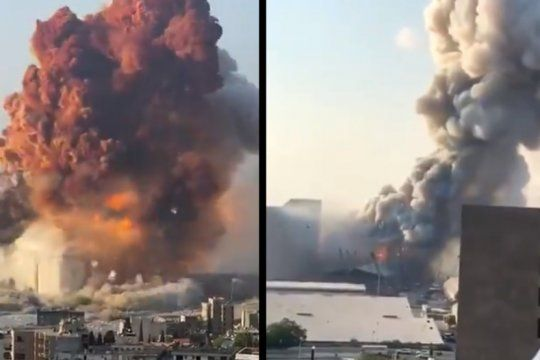 imagenes impactantes de la enorme explosion en beirut