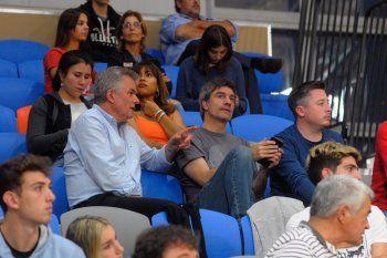 Héctor Gay y uno de sus hombres de confianza,  Fernando Compagnoni.