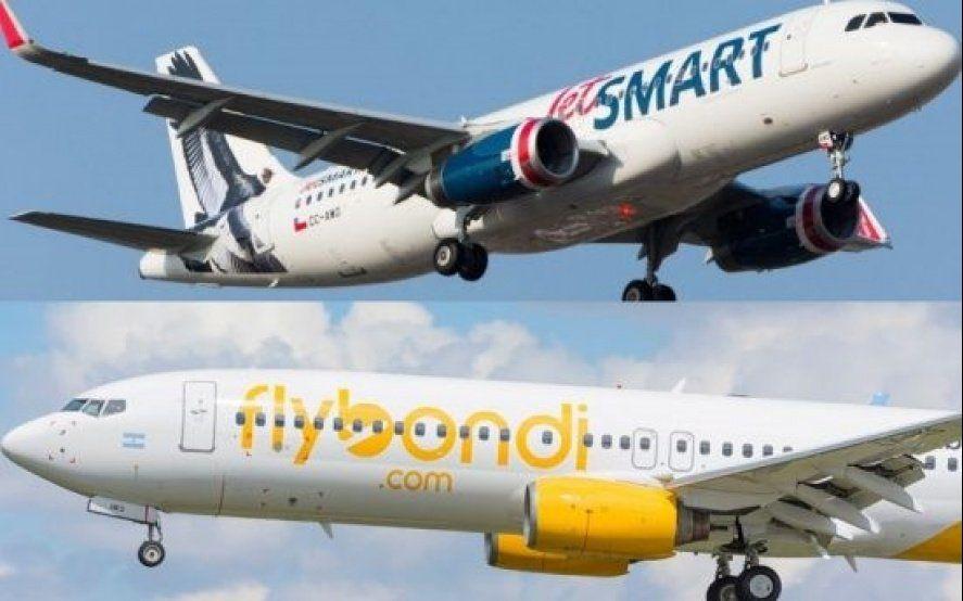Flybondi y Jetsmart admiten que podrían volar desde Ezeiza