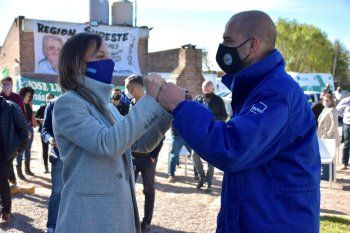 Malena Galmarini inauguró obras en Florencio Varela