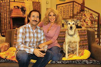 Florencia Peña conoció a la bisnieta de Violeta, la perra que representaba a Fatiga en Casados con hijos