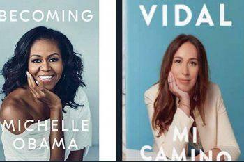 El libro de María Eugenia Vidal y su impresionante similitud en la portada con el de Michelle Obama