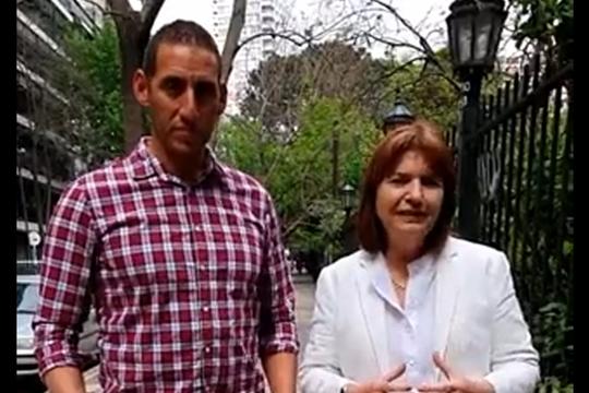 Súarez y Bullrich: el remero se sumó al Pro (captura de pantalla cuenta @patobullrich)