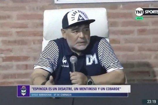 Diego Maradona sobre Fernando Espinoza cuando dirigió a Gimnasia