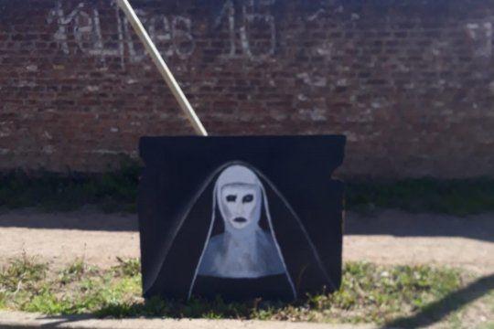 El autor del cuadroo de la monja es un estudiante de la Escuela Normal Joaquín V. González