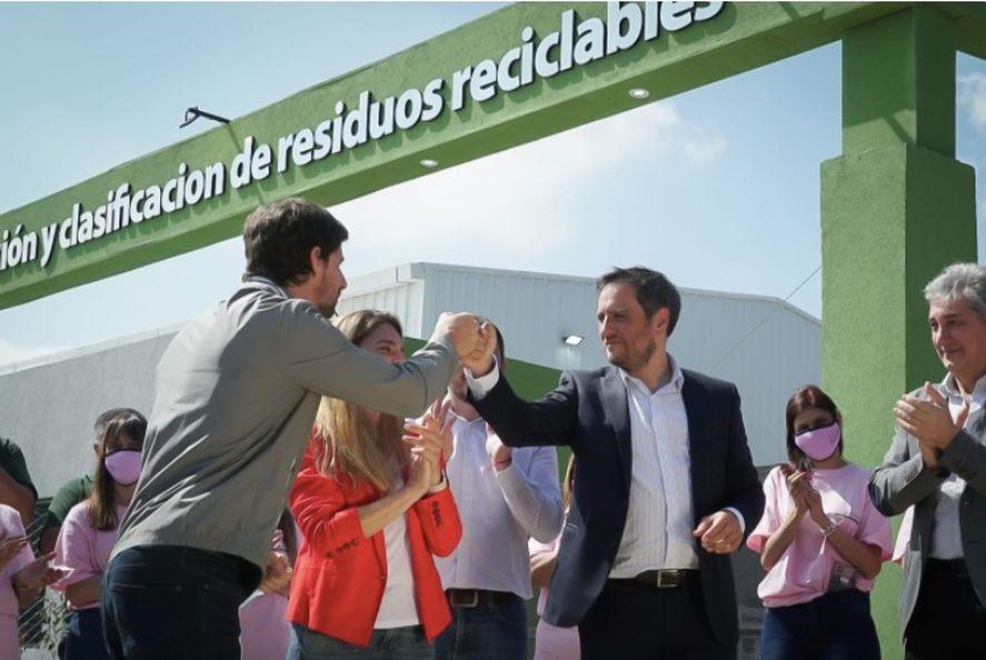 Juan Cabandie y Juan Andreotti inauguraron la Planta de Reciclaje Municipal de San Fernando.
