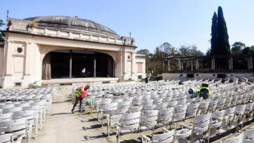El Municipio de La Plata había comenzado la refacción del Teatro del Lago.