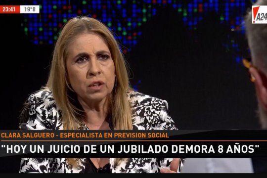 Clara Salguero, la periodista especializada en temas previsionales a la que le quedó el micrófono abierto en A24