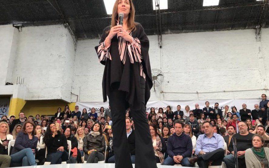 Acto de Juntos por el Cambio en La Plata: Para Vidal, el apoyo del docente vale doble