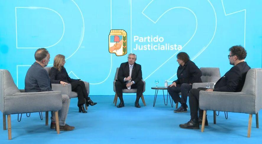 Alberto Fernández participó de un conversatorio sobre Perón