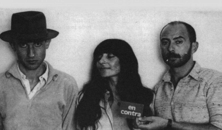 Indio Solari, Skay Beilinson y la manager de Los redondos, la negra Poli.