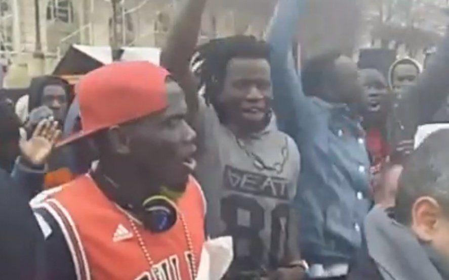 Mirá la versión africana de la marcha peronista que cantaron los manteros en La Plata