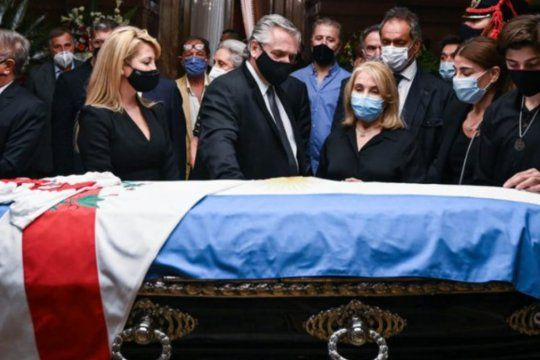 Alberto Fernández dejó su pésame a la familia Menem.