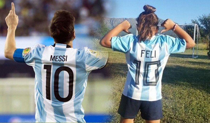 Felicitas y el sueño de conocer a Messi a tráves de su talento.