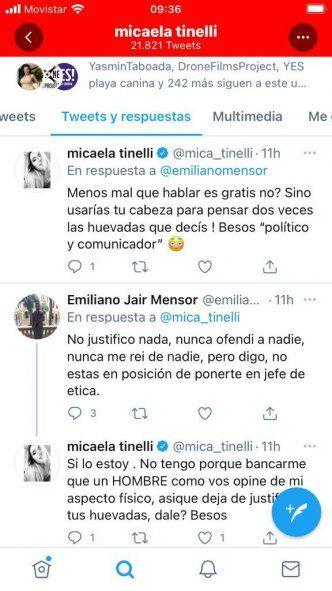 Mica Tinelli arremetió contra el ex funcionario de Mar del Plata que cuenta con más de un escándalo en su historial político.