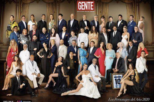 La doble tapa de la Revista Gente criticada por el obsoleto photoshop