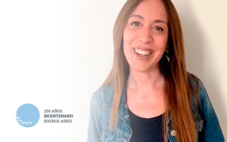 Video: la exgobernadora Vidal saludó a los bonaerenses para el Bicentenario de la Provincia