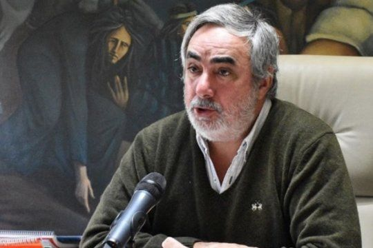 El intendente de Trenque Lauquen, Miguel Fernpandez.