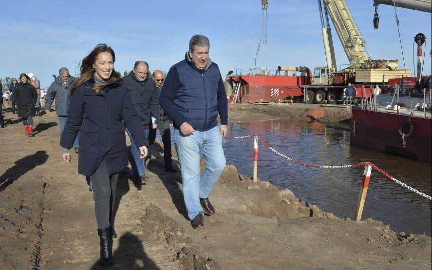 Vidal y candidatos a legisladores recorrieron obras hidráulicas en la Cuenca del Río Saldo