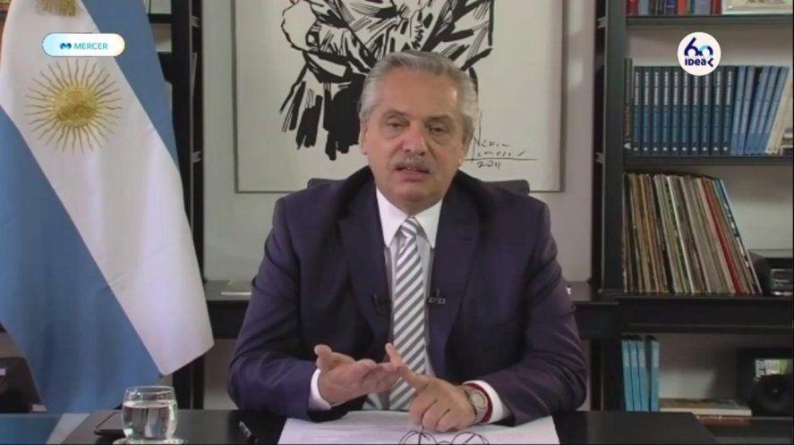 El presidente Alberto Fernández inauguró el 56 coloquio de IDEA.