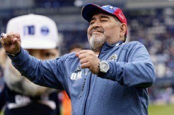 Diego Maradona, siendo feliz en Gimnasia
