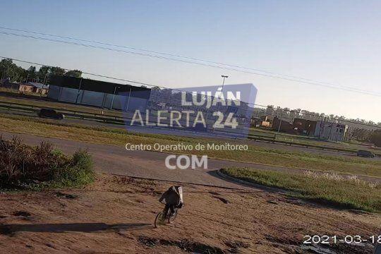 Las cámaras municipales de Luján captaron al captor