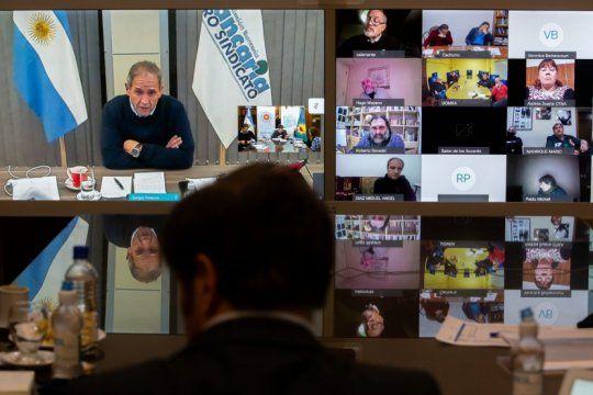 kicillof reunio a sindicalistas para pensar las medidas pospandemia